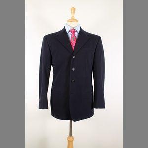Versus by Versace 40R Navy Cotton Sport Coat 98-V